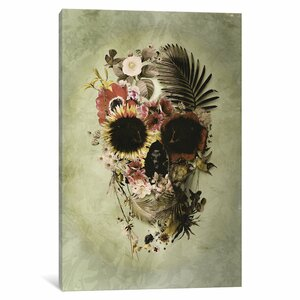 Garden Skull Light by Ali Gulec Graphic Art on Wrapped Canvas by Wrought Studio