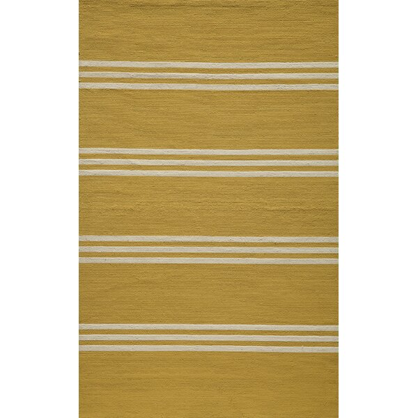 Dreadnought Lemon Indoor/Outdoor Area Rug by Breakwater Bay
