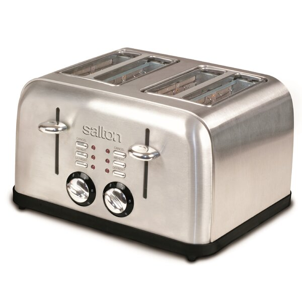 4-Slice Electronic Stainless Steel Toaster by Salton