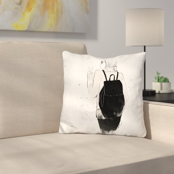 Peace Throw Pillow by East Urban Home