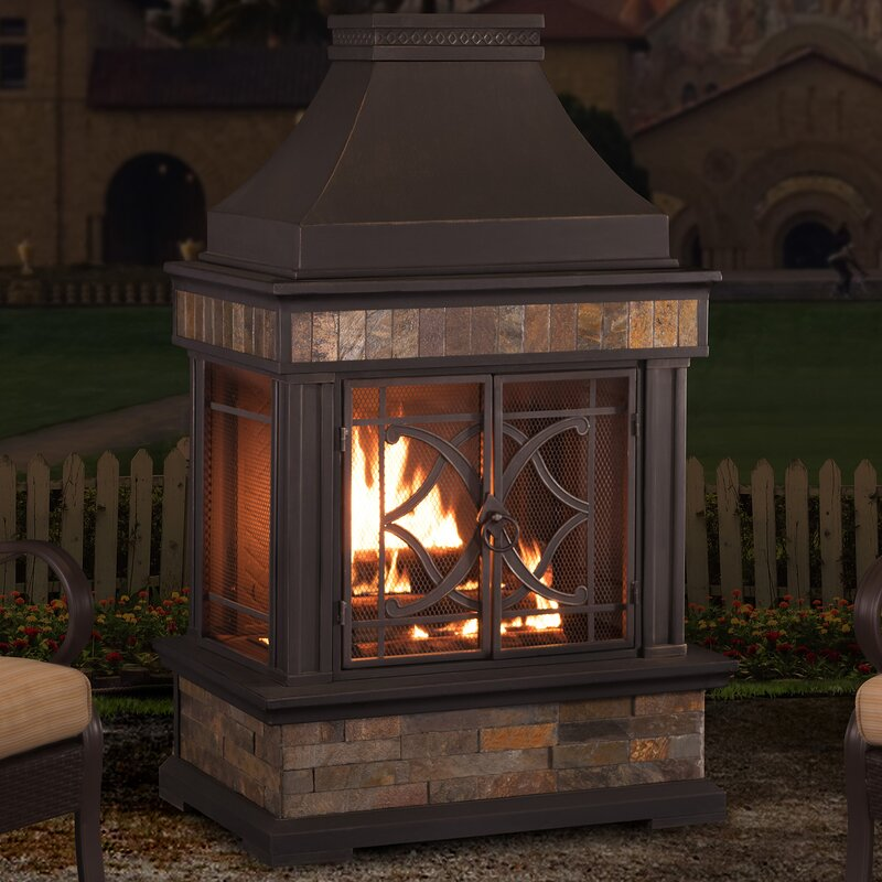 Wonderful Heirloom Steel Wood Burning Outdoor Fireplace