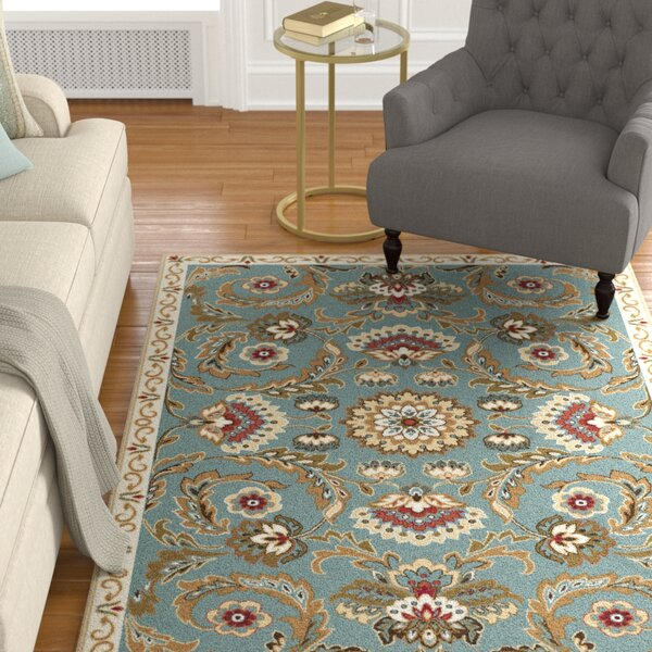 Evans Seafoam/Cream Area Rug by Alcott Hill