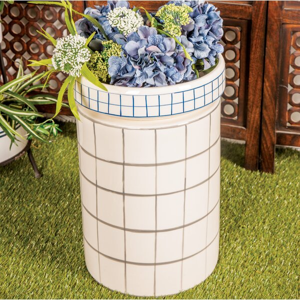 Palko Modern Cylindrical Ceramic Garden Stool by George Oliver George Oliver
