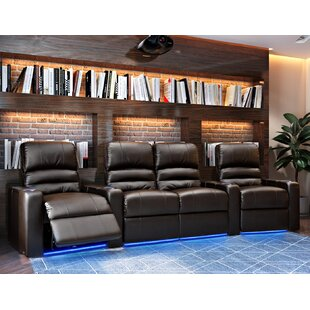 Blue LED Home Theater Curved Row Seating (Row of 4) Latitude Run