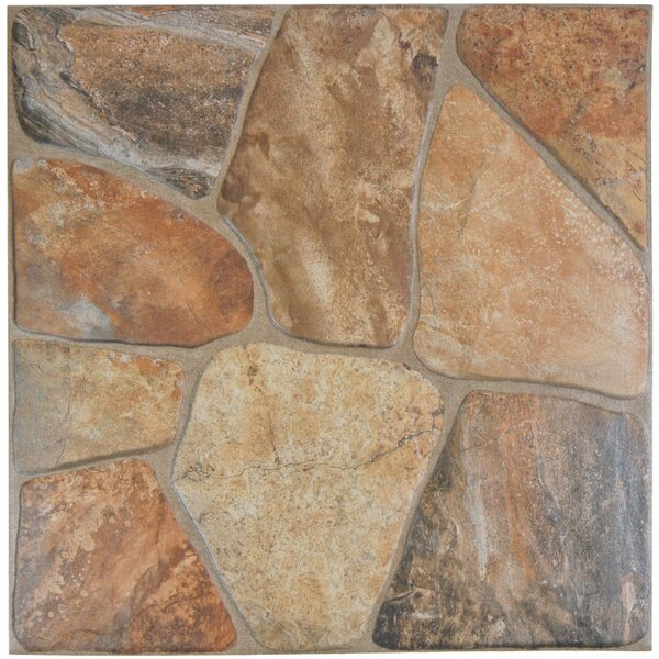 Marseille 17.75 x 17.75 Ceramic Field Tile in Caliza Brown/Gray by EliteTile