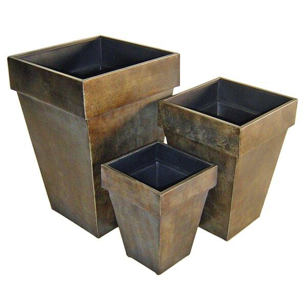 Metal 3-Piece Metal Pot Planter Set by Cheungs