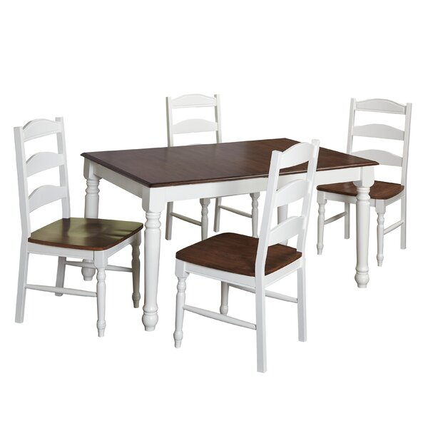Fleurance 5 Piece Dining Set by August Grove