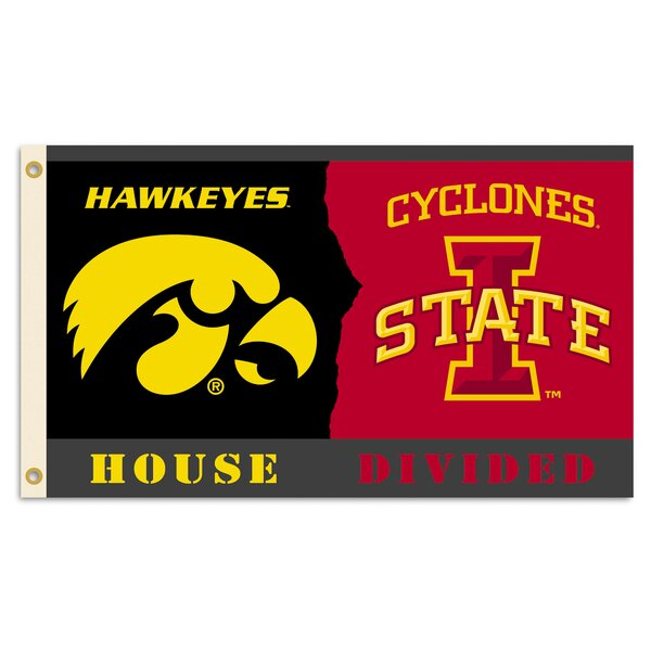 NCAA Rivalry House Polyester 3 x 5 ft. Flag by BSI Products