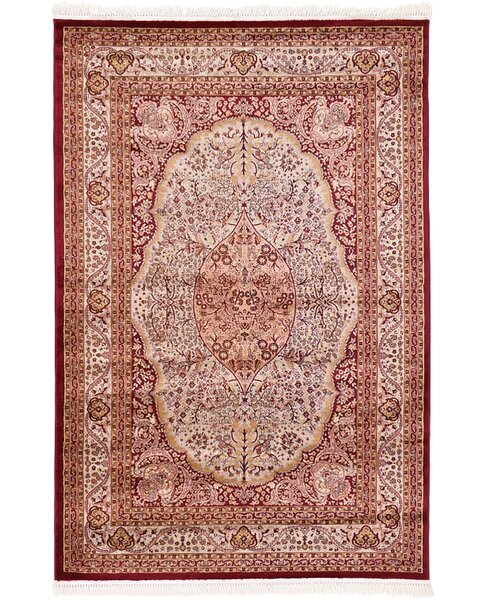 Britain Red Area Rug by World Menagerie