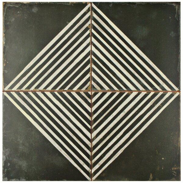 Royalty 17.63 x 17.63 Ceramic Field Tile in Matte Black/White by EliteTile