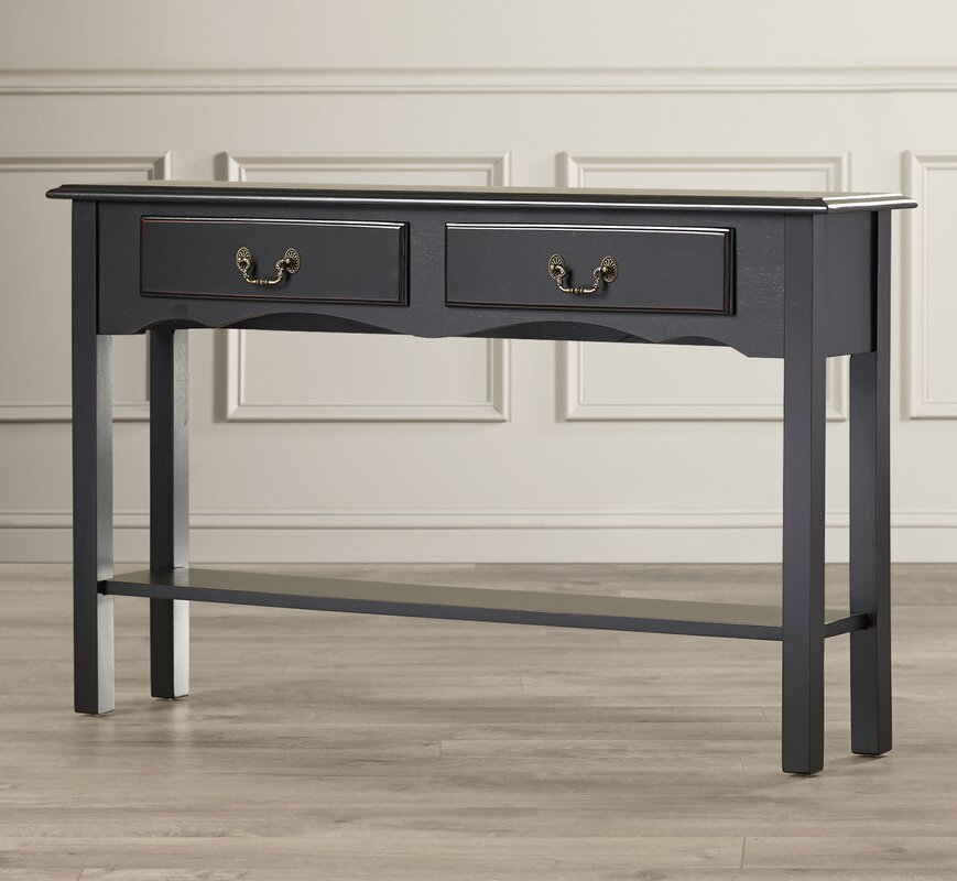 annesley petite console table reviews birch lane. Black Bedroom Furniture Sets. Home Design Ideas