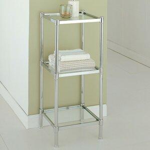 free standing bathroom shelves chrome. glacier 13.25\ free standing bathroom shelves chrome t