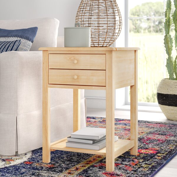 Lynn Wood End Table With Storage By Mistana