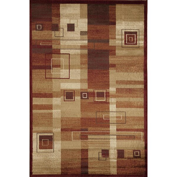 Allston Rust/Natural Area Rug by Threadbind