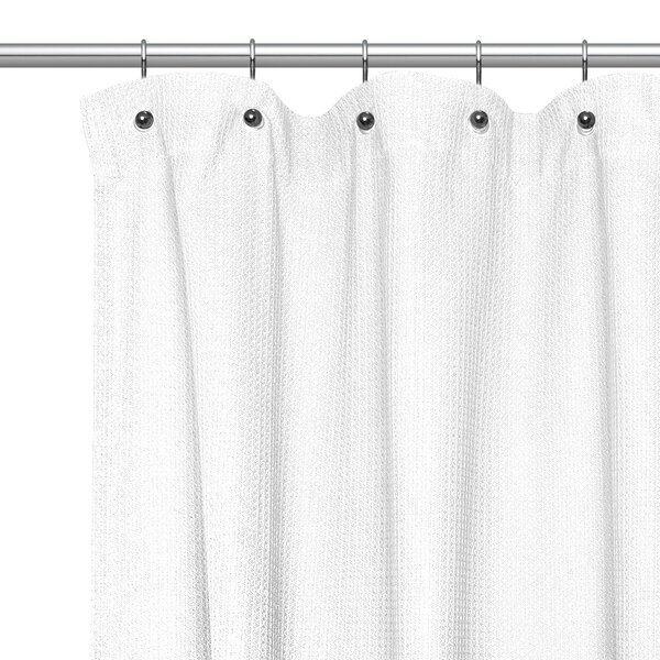 Waffle Weave Cotton Shower Curtain by Sweet Home Collection