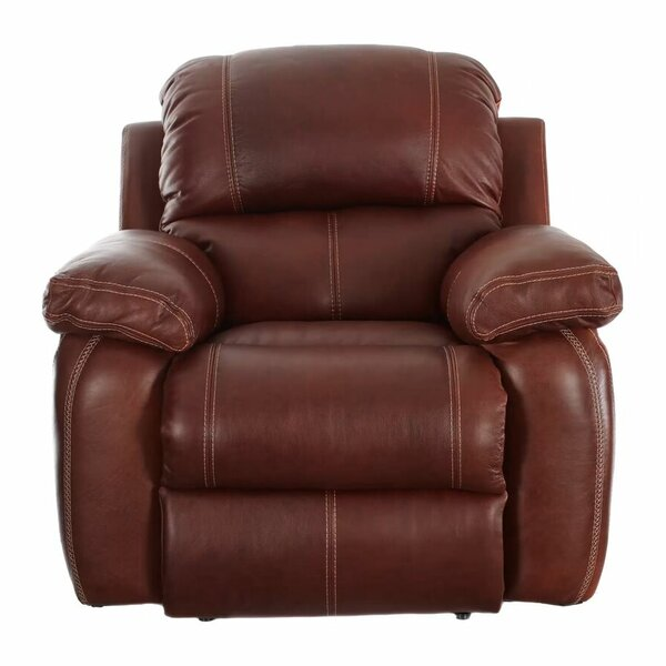 Majandra Leather Manual Recliner by Darby Home Co Darby Home Co