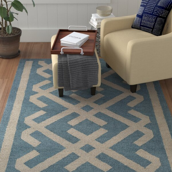 Levin Hand-Tufted Blue/Beige Area Rug by Winston Porter