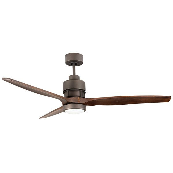 60 Spillman 3 Blade Ceiling Fan with Remote by Brayden Studio