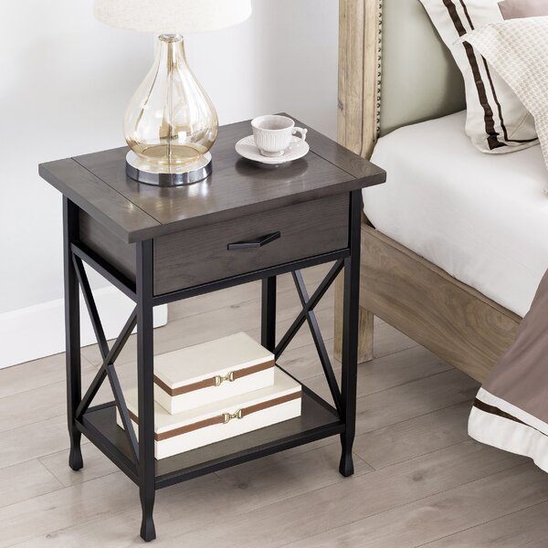 Cayton 1 Drawer Nightstand by Charlton Home