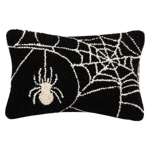 Mckernan Spider Web Hook Wool Lumbar Pillow by The Holiday Aisle