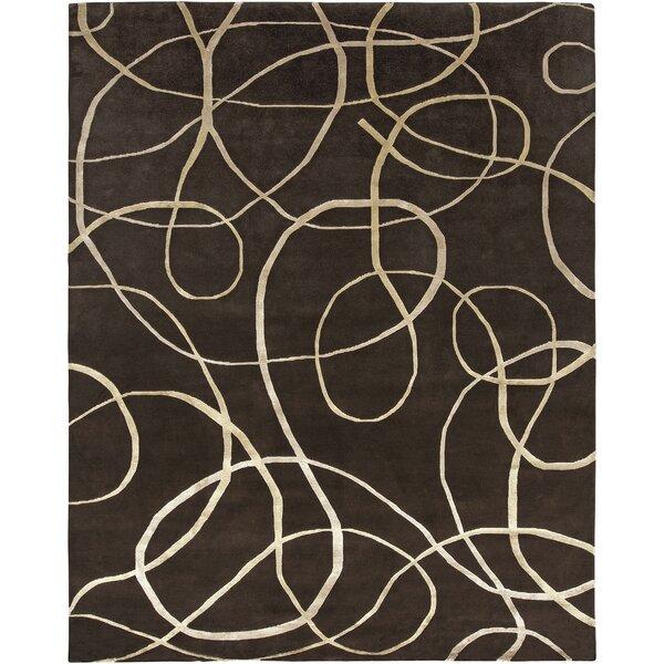 Emborough Hand-Knotted Brown Area Rug by Orren Ellis