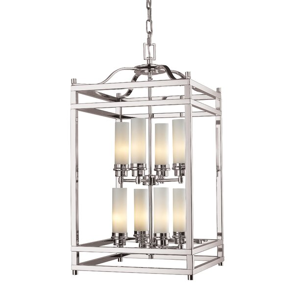 Humiston 8 - Light Lantern Rectangle Chandelier by Bloomsbury Market Bloomsbury Market