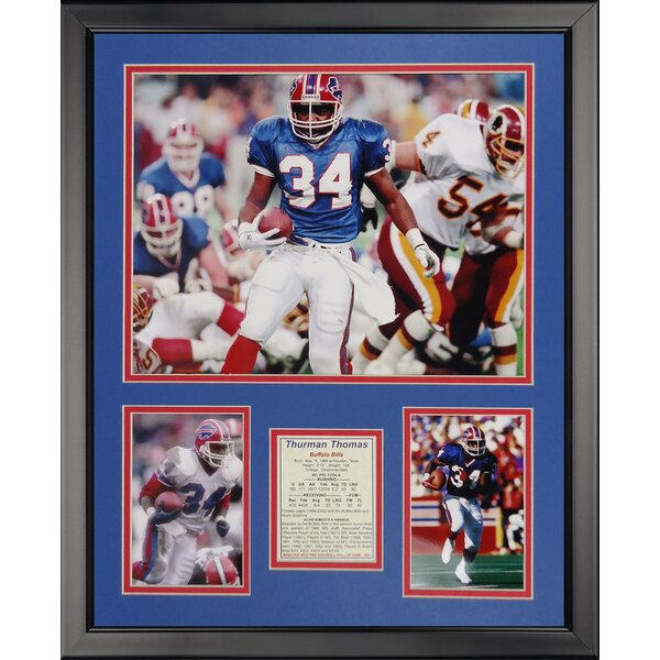 NFL Buffalo Bills - Thurman Thomas Framed Memorabili by Legends Never Die