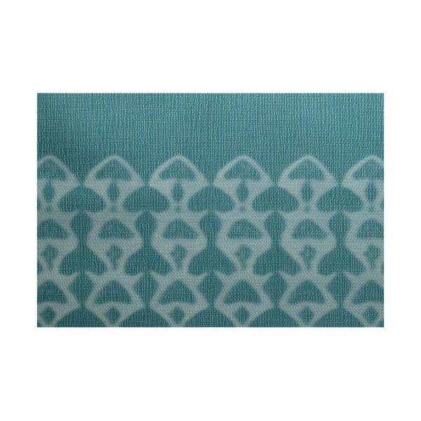 Viet Green Geometric Indoor/Outdoor Area Rug by Bloomsbury Market