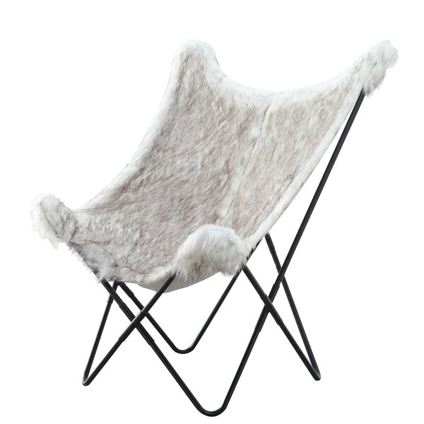 SandpiperCove Faux Fur Butterfly Chair by Union Rustic