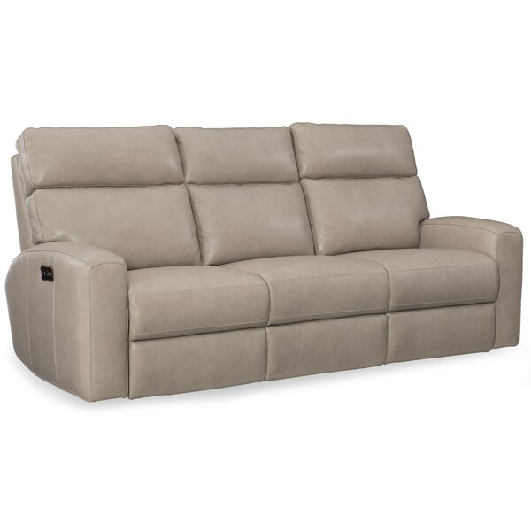 Review Mowry Power Motion Leather Reclining Sofa