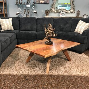 Find for Signe Live Edge Wooden Coffee Table By Millwood Pines