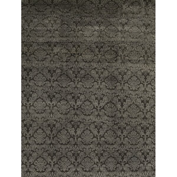 Hand-Knotted Wool Gray Area Rug