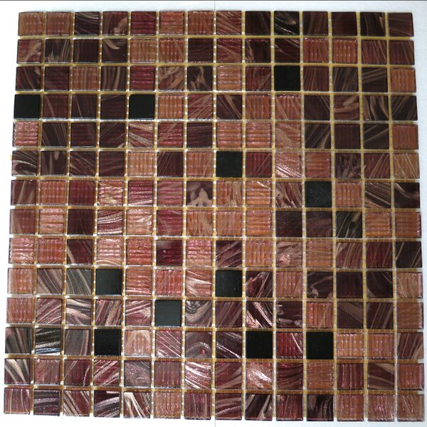 0.75 x 0.75 Glass Mosaic Tile in Brown/Black/Beige by Bellaterra Home