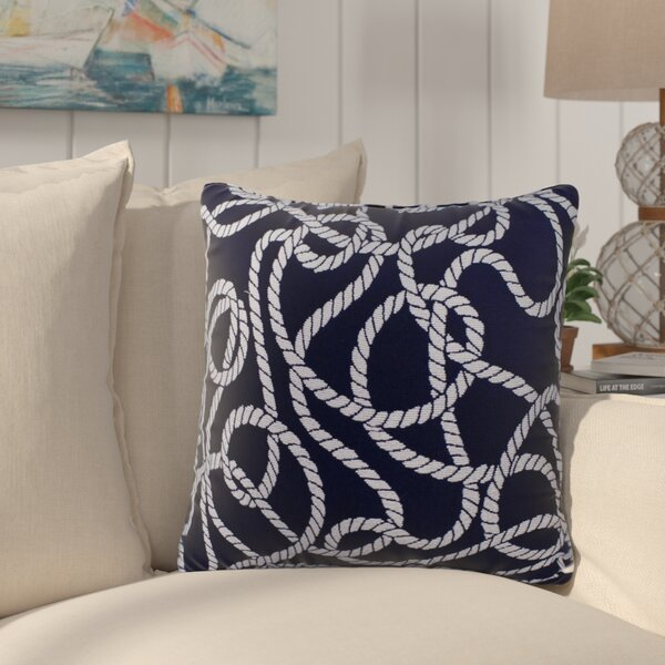 Brinley Nautical Outdoor Throw Pillow by Longshore Tides
