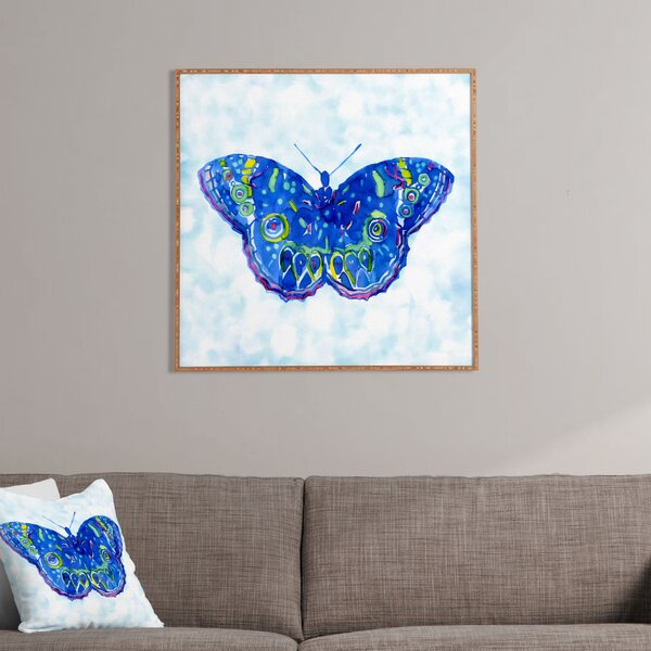 Butterfly Framed Painting Print by East Urban Home