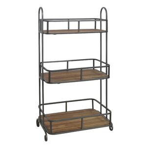 3 Tier Wood Top Storage Shelving Unit by Cheungs
