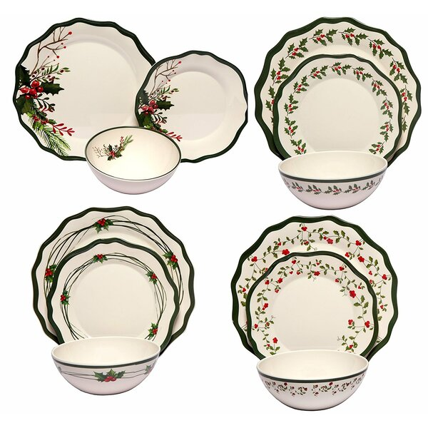 Winterberry Melamine 12 Piece Dinnerware Set by The Holiday Aisle