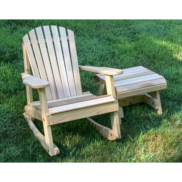 Marquez Rocking Adirondack Chair with Table by Rosecliff Heights