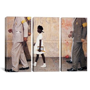 The Problem We All Live With (Ruby Bridges) by Norman Rockwell Painting Print on Canvas by iCanvas