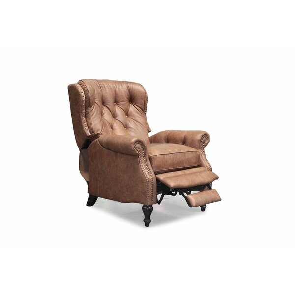 Neela Vintage Leather Manual Recliner By Astoria Grand