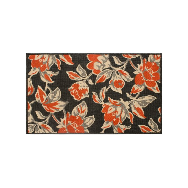 Jaya Carlisle Orange Indoor/Outdoor Area Rug by Laura Ashley