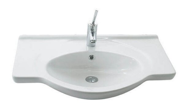 Etol Ceramic 30 Wall Mount Bathroom Sink with Overflow by WS Bath Collections