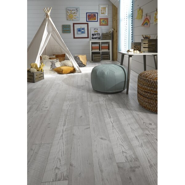Restoration 6'' x 51 x 12mm Seaview Pine Laminate Flooring  in Cloud by Mannington