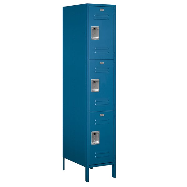 3 Tier 1 Wide Employee Locker by Salsbury Industries