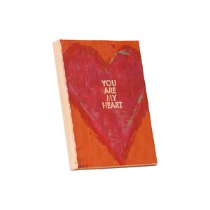 'You Are My Heart' Framed Textual Art Plaque by Andover Mills
