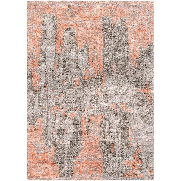 Aliza Handloom Brown/Terracotta Area Rug by Bungalow Rose