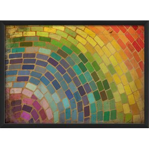 Rainbow Mosaic Framed Graphic Art by The Artwork Factory