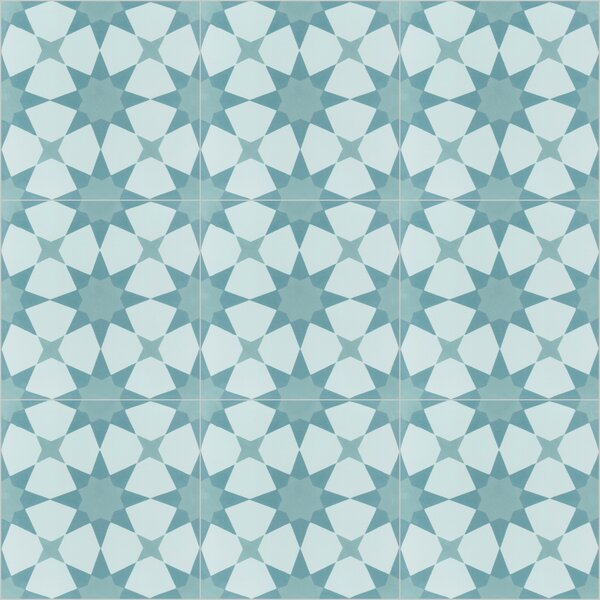 Taza 8 x 8 Cement Field Tile in Blue by Villa Lagoon Tile