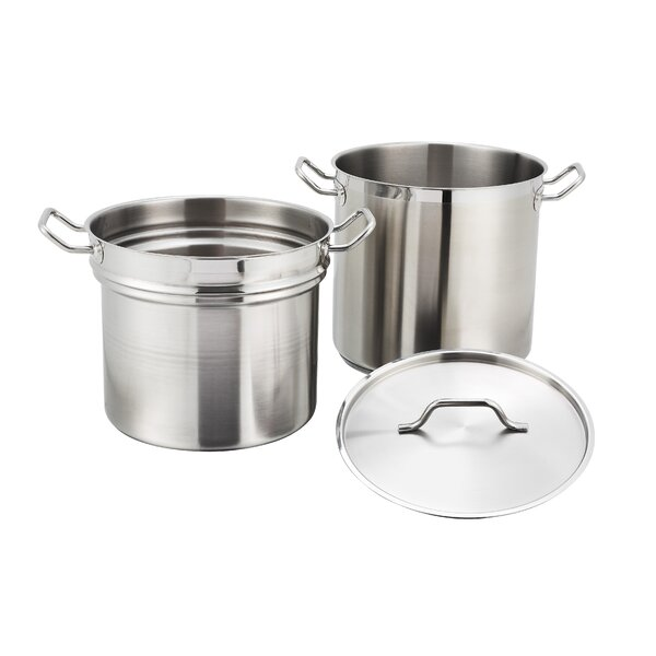 Alu Double Boiler with Lid by Winco