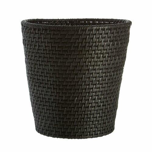 Papierkorb aus Rattan Castleton Home Farbe: Schwarz | Büro > Papierkörbe | Castleton Home